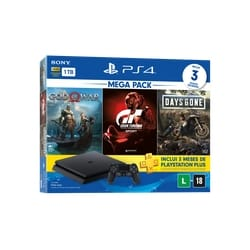 Console Playstation 4 Hits 1TB Bundle 12 – God Of War + Gran Turismo + Days Gone – PS4
