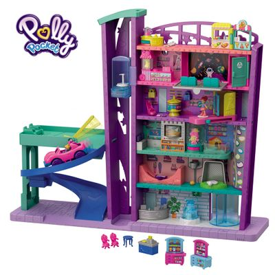 Playset e Mini Boneca – Polly Pocket – Pollyville – Mega Shopping – Mattel